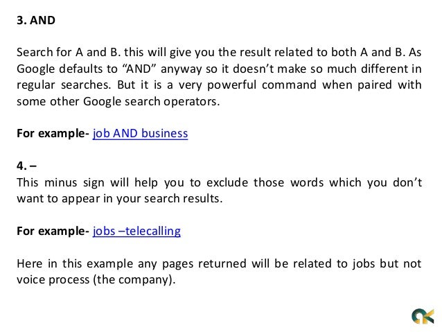 What is Google search operators