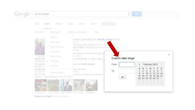 Google search tips date range and videos