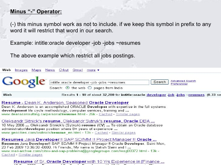 google search using advance search operators  1