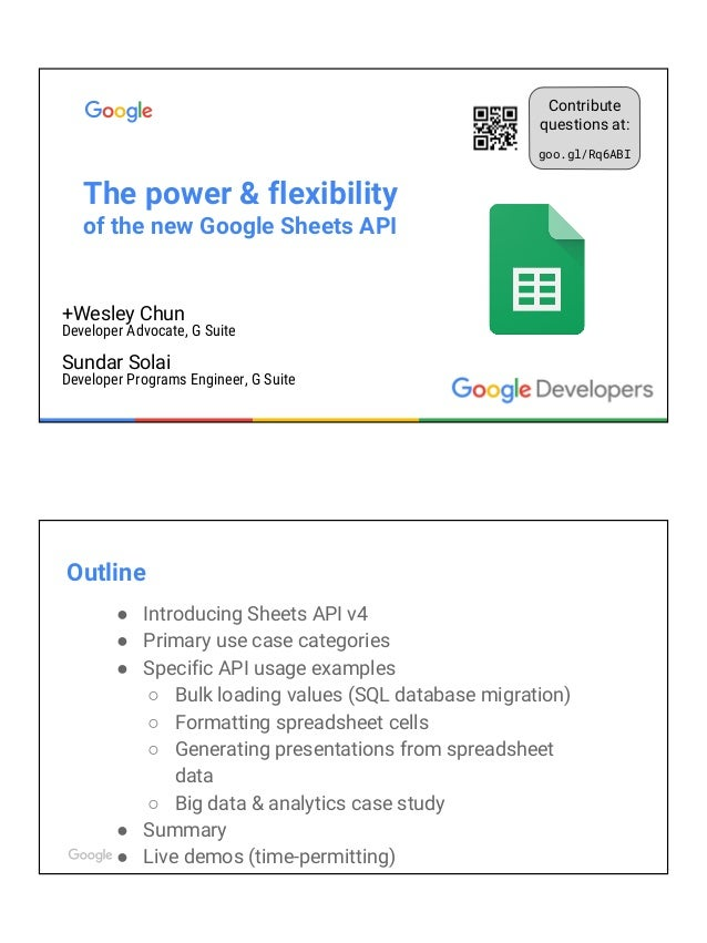 Power Flexibility Of The Google Sheets API - Google spreadsheet examples