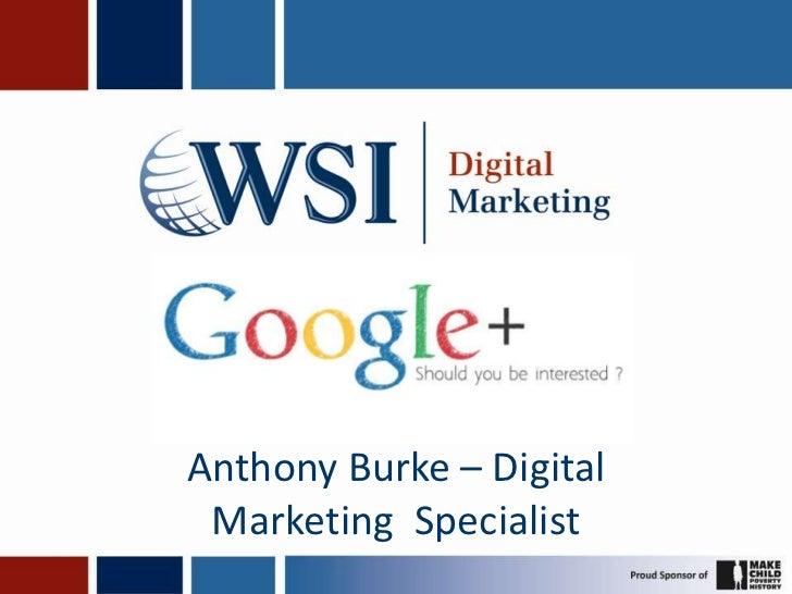 Anthony Burke – Digital Marketing Specialist