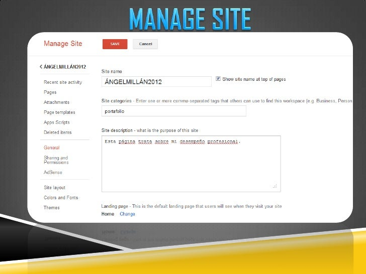 MANAGE SITE<br />