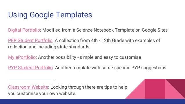 google sites as student portfolios