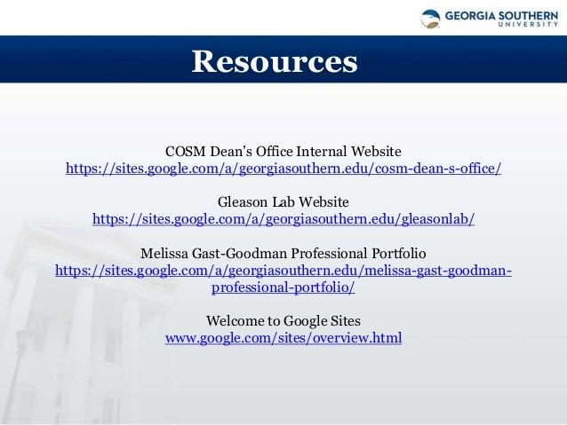 Google Sites Online Workshop Fall 2015