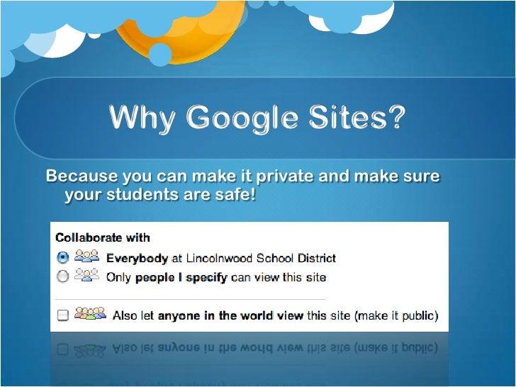 google sites presentation