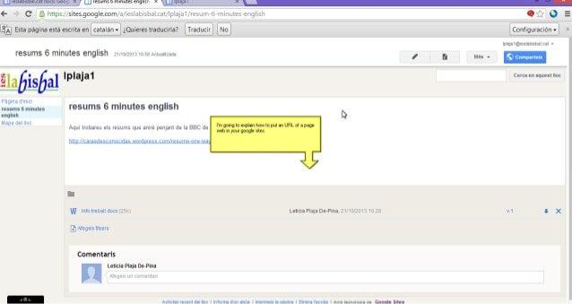 Google sites url