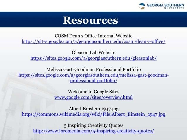 Google Sites Workshop Fall 2015