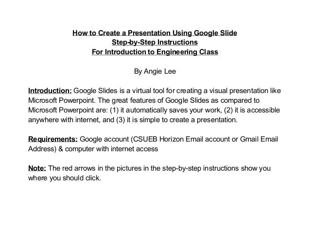 how to create a presentation using google slides