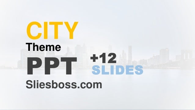 Free Google Slides And Powerpoint Template City - Google ppt theme