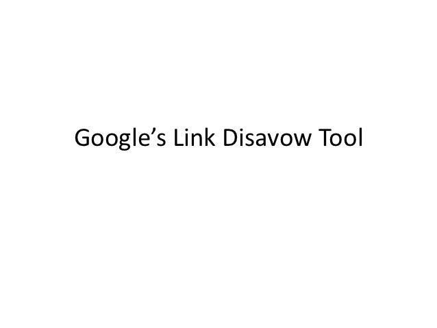 Google's Link Disavow Tool