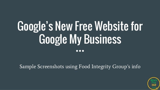 google s new free website for google my business