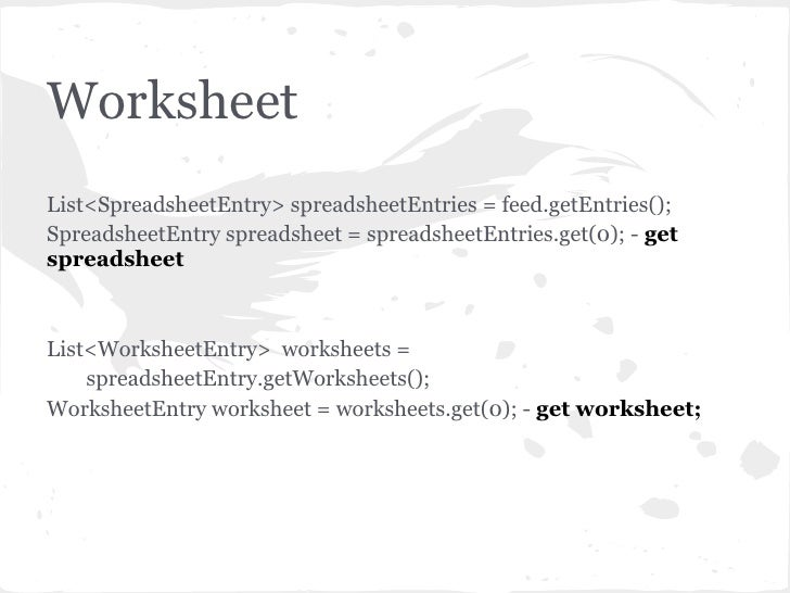 Overview Of Google Spreadsheet Api For Java By Nazar Kostiv
