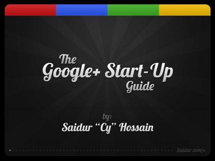 Google+ start up guide