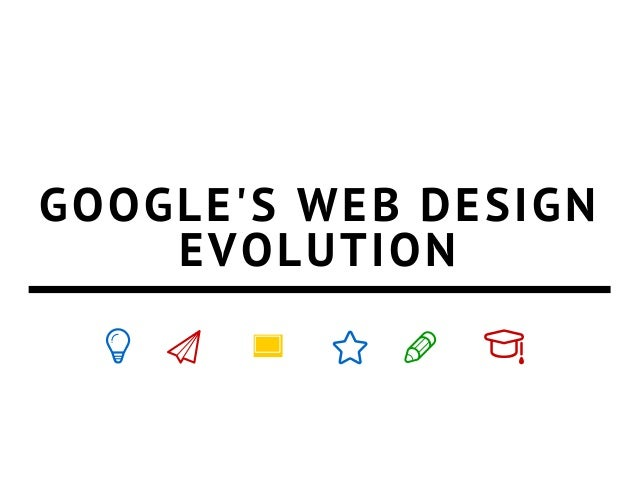 Google's web design over the years