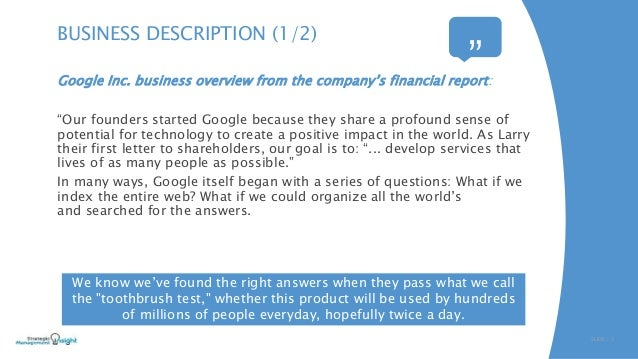 google industry information Share what you know about the businesses that matter most to you the information you give us helps make sure business information on google is accurate and up to date.