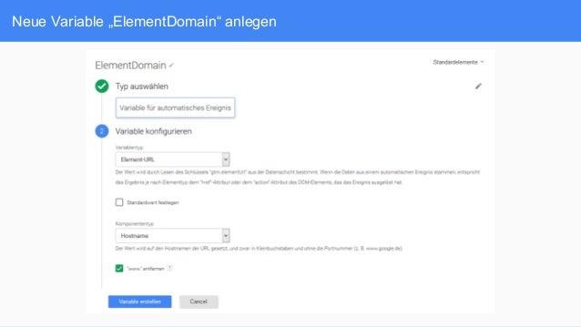 "Neue Variable ""ElementDomain"" anlegen"
