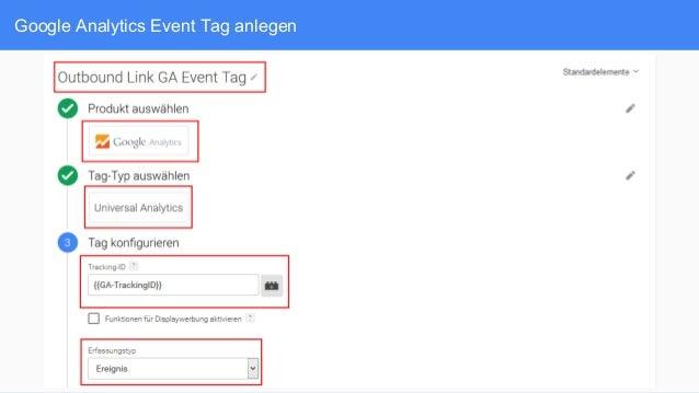 Google Analytics Event Tag anlegen