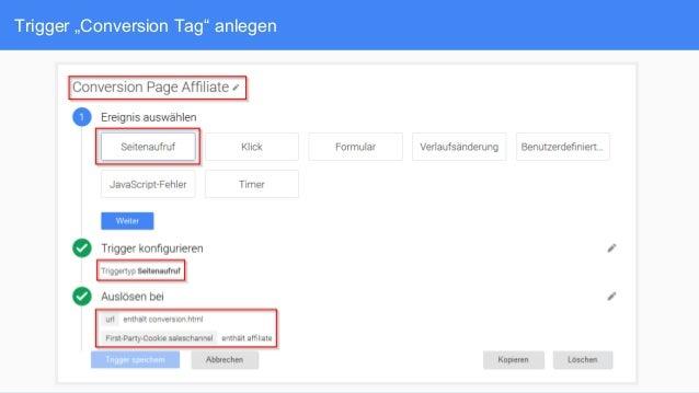 """Trigger """"Conversion Tag"""" anlegen"""