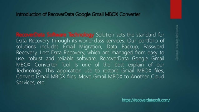 Google Takeout G Suite / Gmail MBOX Converter - Import Gmail MBOX to …