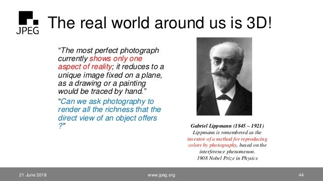 """The real world around us is 3D! """"The most perfect photograph currently shows only one aspect of reality; it reduces to a u..."""