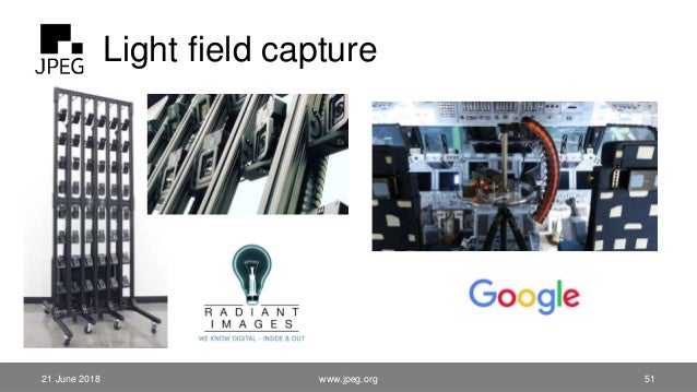 Light field capture 21 June 2018 www.jpeg.org 51