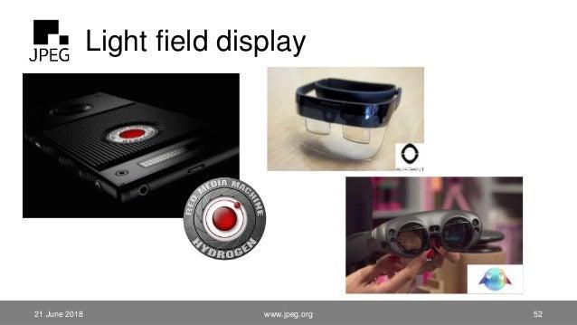 Light field display 21 June 2018 www.jpeg.org 52