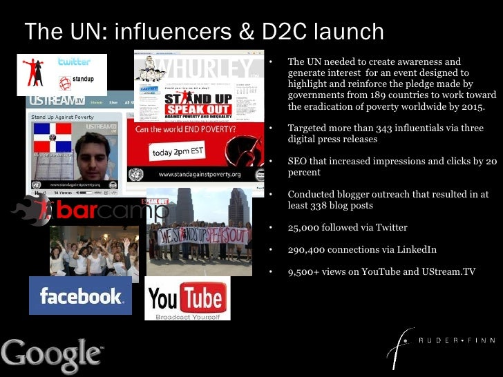 The UN: influencers & D2C launch <ul><li>The UN needed to create awareness and generate interest  for an event designed to...