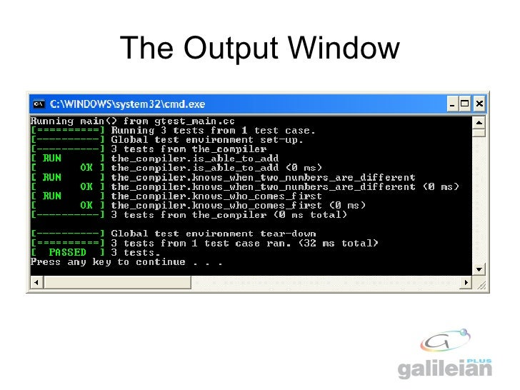 Google C++ Testing Framework in Visual Studio 2008
