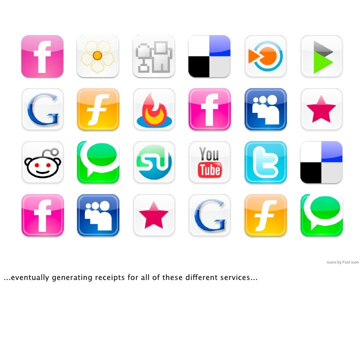 icons by Fast Icon   ...eventually generating receipts for all of these different services...