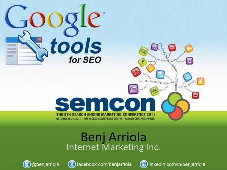 Benj ArriolaInternet Marketing Inc.