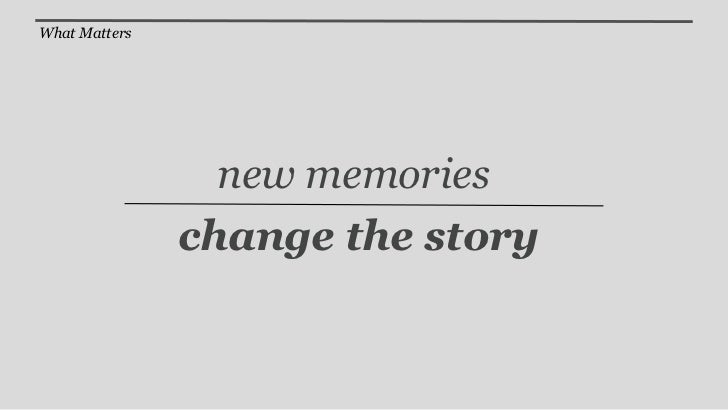 The Story is not the Experience
