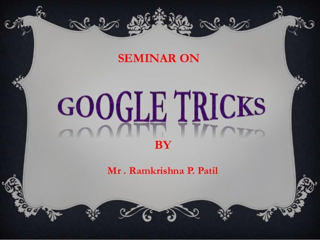 SEMINAR ON BY Mr . Ramkrishna P. Patil