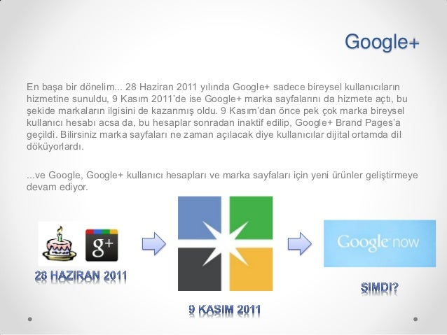 Google+, Turkiye Pazari ve En İyi Örnekler Slide 3