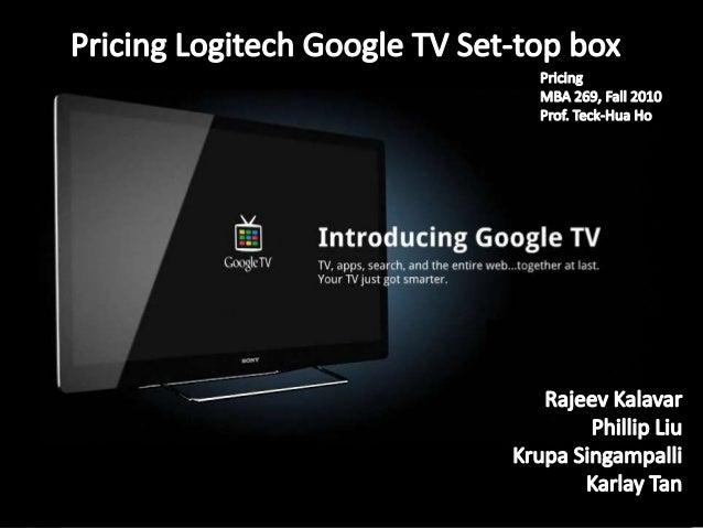 Objective • Analyze & segment the Internet TV set-top box market • Determine the important feature preferences per segment...