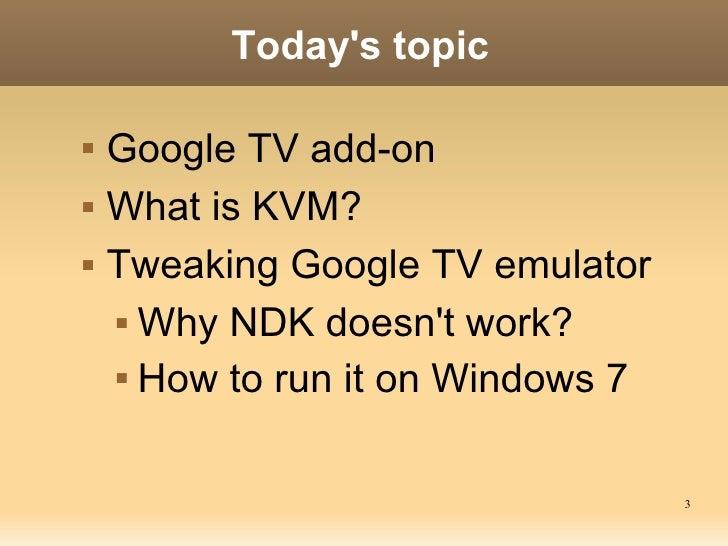 Tweaking Google TV emulator