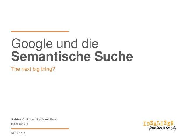Google und die Semantische Suche