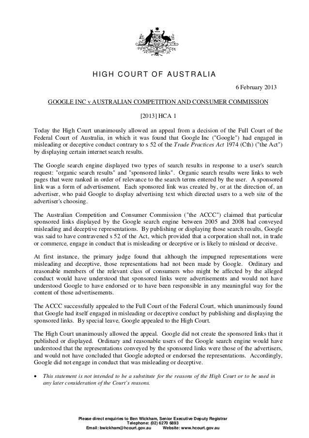 HIGH COURT OF AUSTRALIA                                                                                               6 Fe...