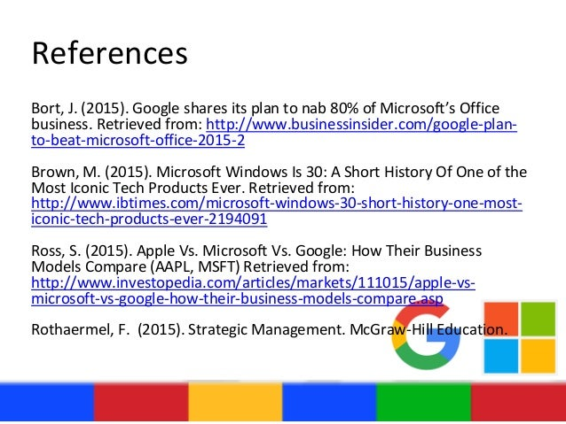 compare the business models of apple google and microsoft 1 define and compare the business models and areas of strength of apple, google, and microsoft.