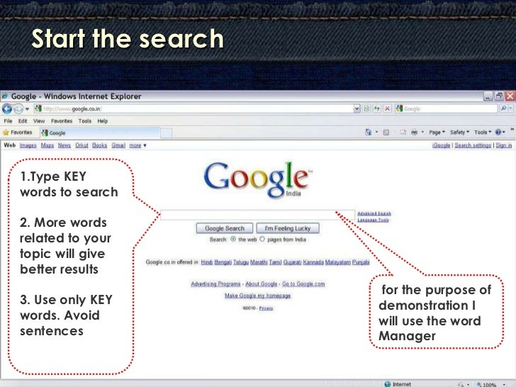 How to Search with Google ? Slide 3