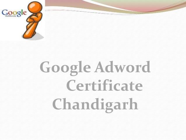 Google Adwords Certification in Chandigarh