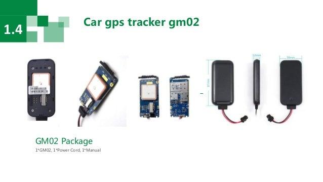 Car gps tracker gm02 1.4 GM02 Package 1*GM02, 1*Power Cord, 1*Manual