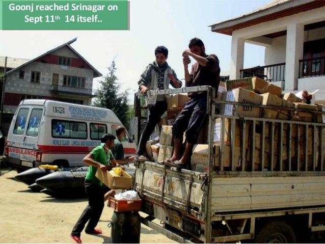 Goonj's work relief & rehab work in J&K (Sept'14- June'15)  Slide 3