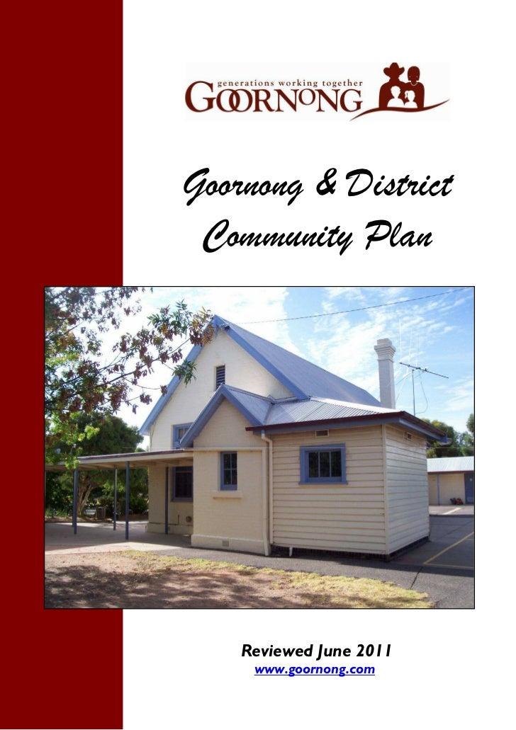 Goornong & District                Community Plan                   Reviewed June 2011                    www.goornong.com...