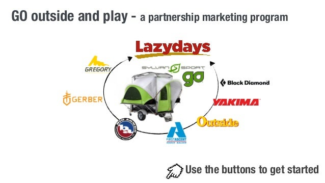 GO outside and play - a partnership marketing program  Use the buttons to get started