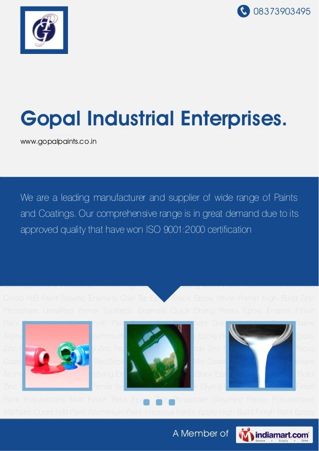 08373903495A Member ofGopal Industrial Enterprises.www.gopalpaints.co.inIndustrial Paints Epoxy High Build Finish Paint Ep...