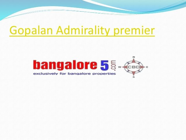 Gopalan Admirality premier