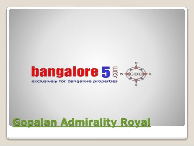 Gopalan Admirality Royal