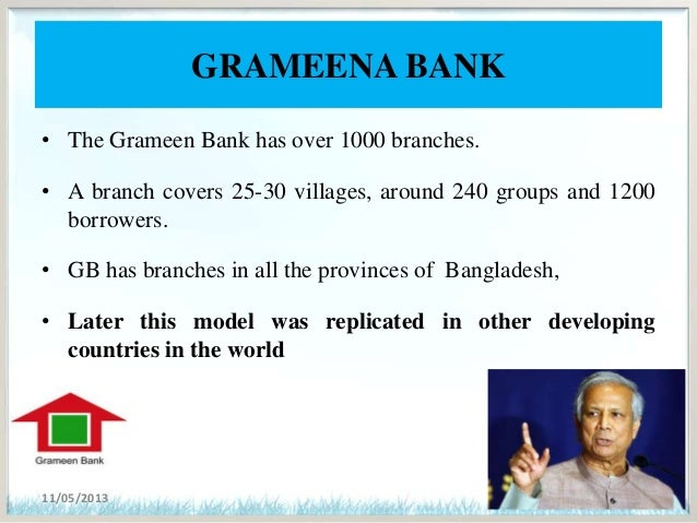 business model of grameen bank Best practices in mobile microfinance fatima yousif with choosing the right business model 26 3 (later to become grameen bank.