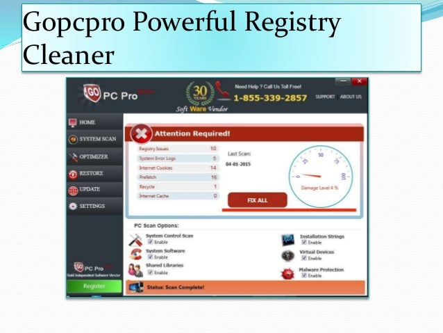Gopcpro Powerful Registry Cleaner