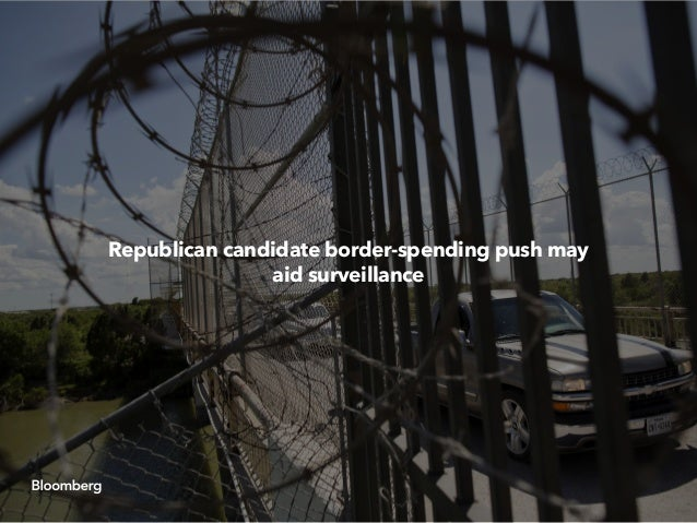 Republican presidential candidates continued emphasizing the need for increased spending on border security, drones and fi...